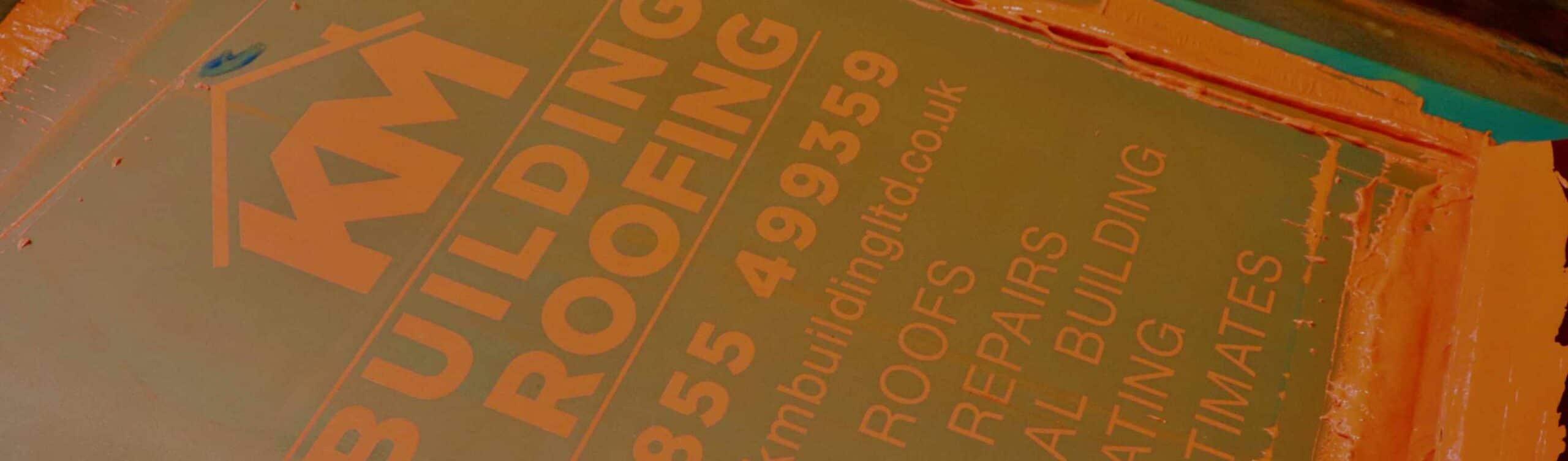 KM Building Roofing Screenprinting