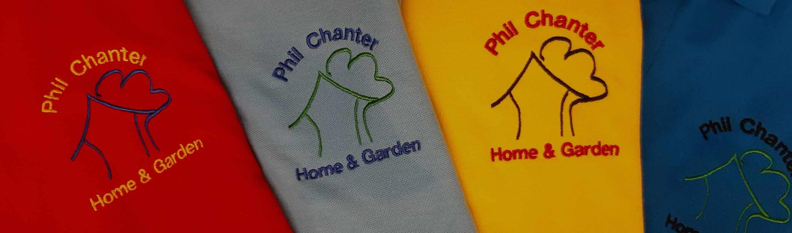 Phil Chanter Polo Shirts coloured embroidered