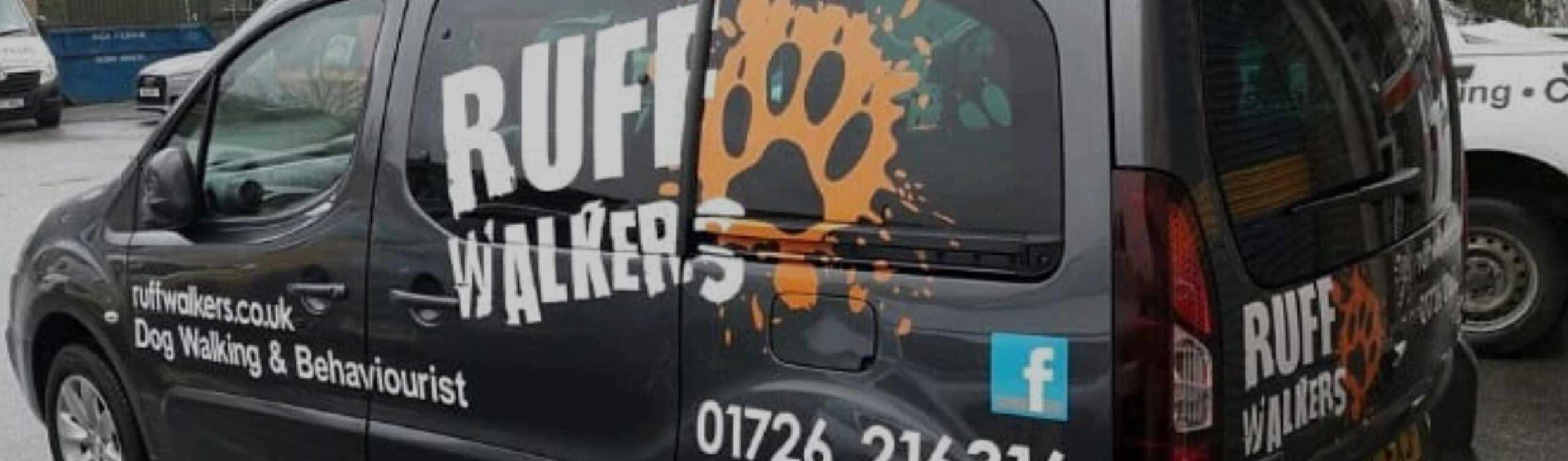 Ruff Walkers Vehicle Sign Writing