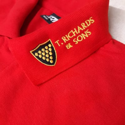 Embroidery positioning - lapel logos